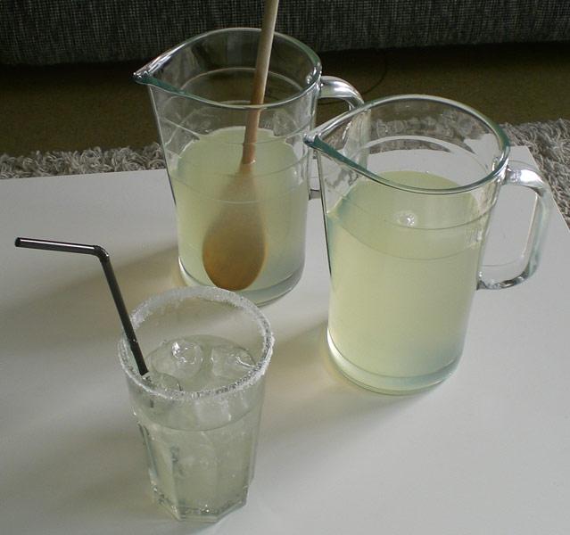 Rezept für hausgemachte Zitronenlimo, homemade Lemonade
