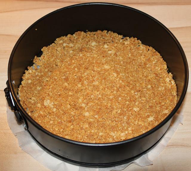 Keksboden in Springform für Cheesecake
