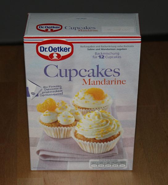 Packung der Cupcake-Backmischung von Dr. Oetker