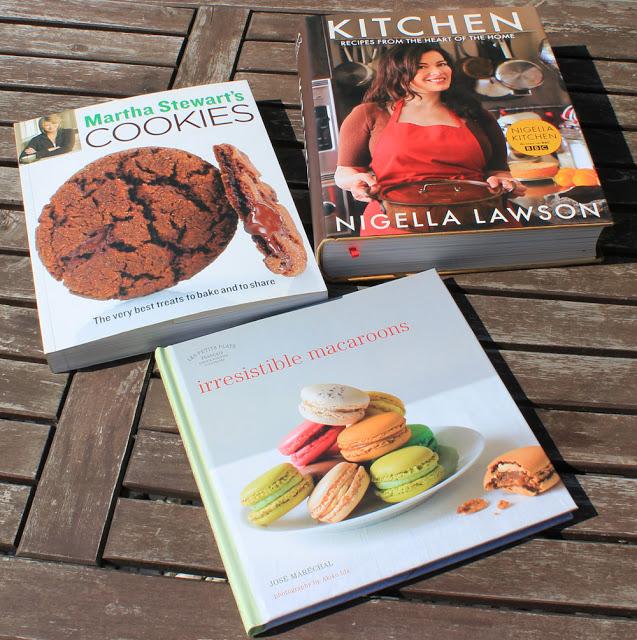 Martha Stewart Cookies, Nigella Lawson Kitchen und Macaraons - Backbücher aus London