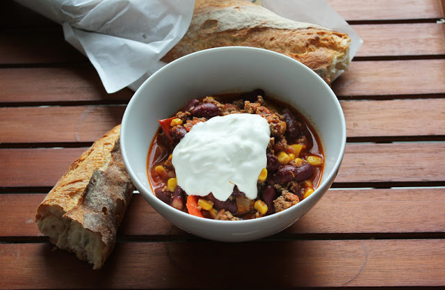 chili con carne schmeckt auch im fr hling moey 39 s kitchen foodblog. Black Bedroom Furniture Sets. Home Design Ideas
