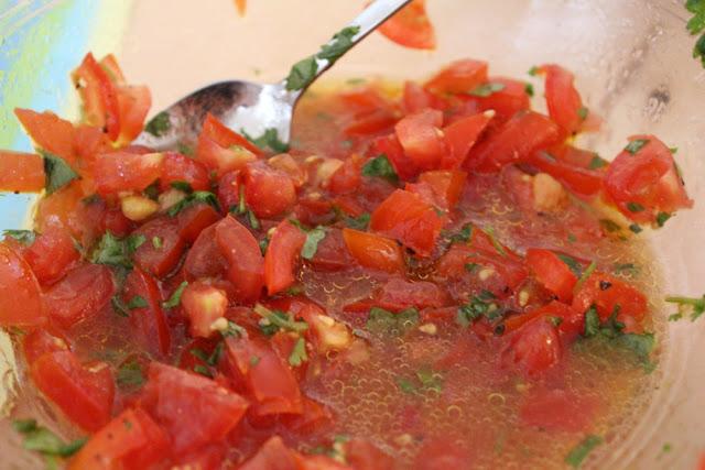 Tomatensalsa für die Chicken Fajitas