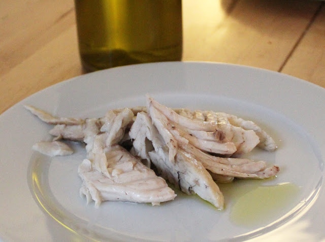 der Fisch aus dem Salz ist buttrig zart