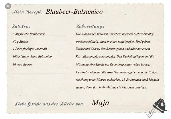 Rezept für Blaubeer-Balsamico