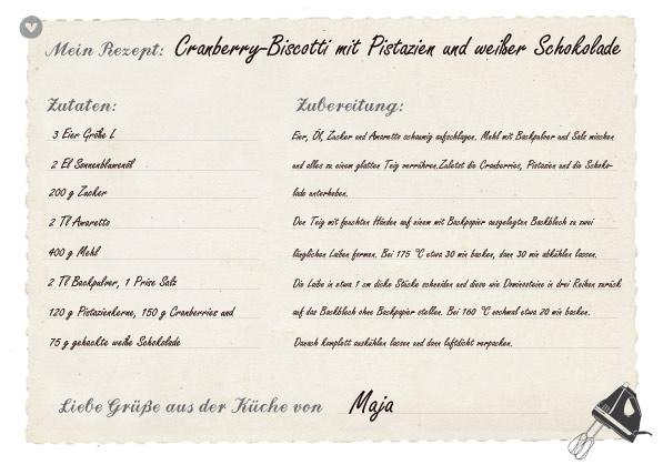 Rezept für Cranberry-Biscotti mit Pistazien und weißer Schokolade