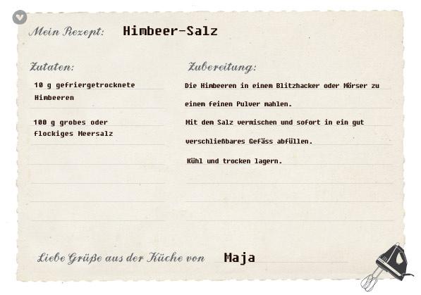 Rezept für Himbeer-Salz