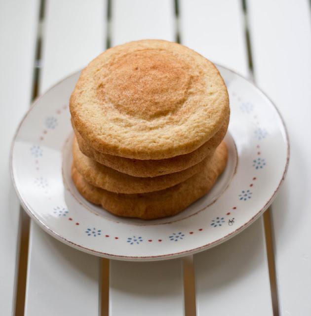 ein Stapel frisch gebackener Snickerdoodles