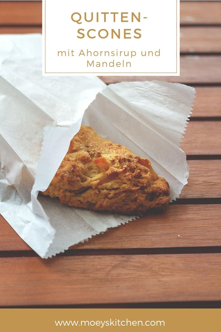 Rezept für herbstliche Quitten-Scones zum Sonntagsfrühstück | moeyskitchen.com #rezept #quitten #scones #foodblog
