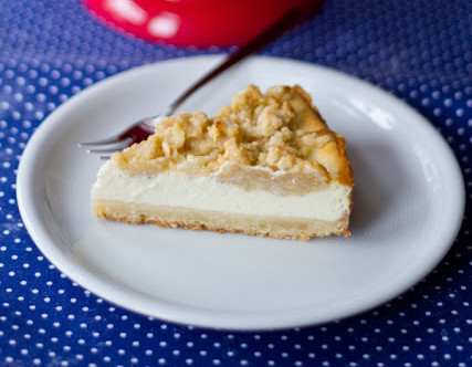 Vanille Cheesecake Mit Apfel Streuseln Moey S Kitchen Foodblog