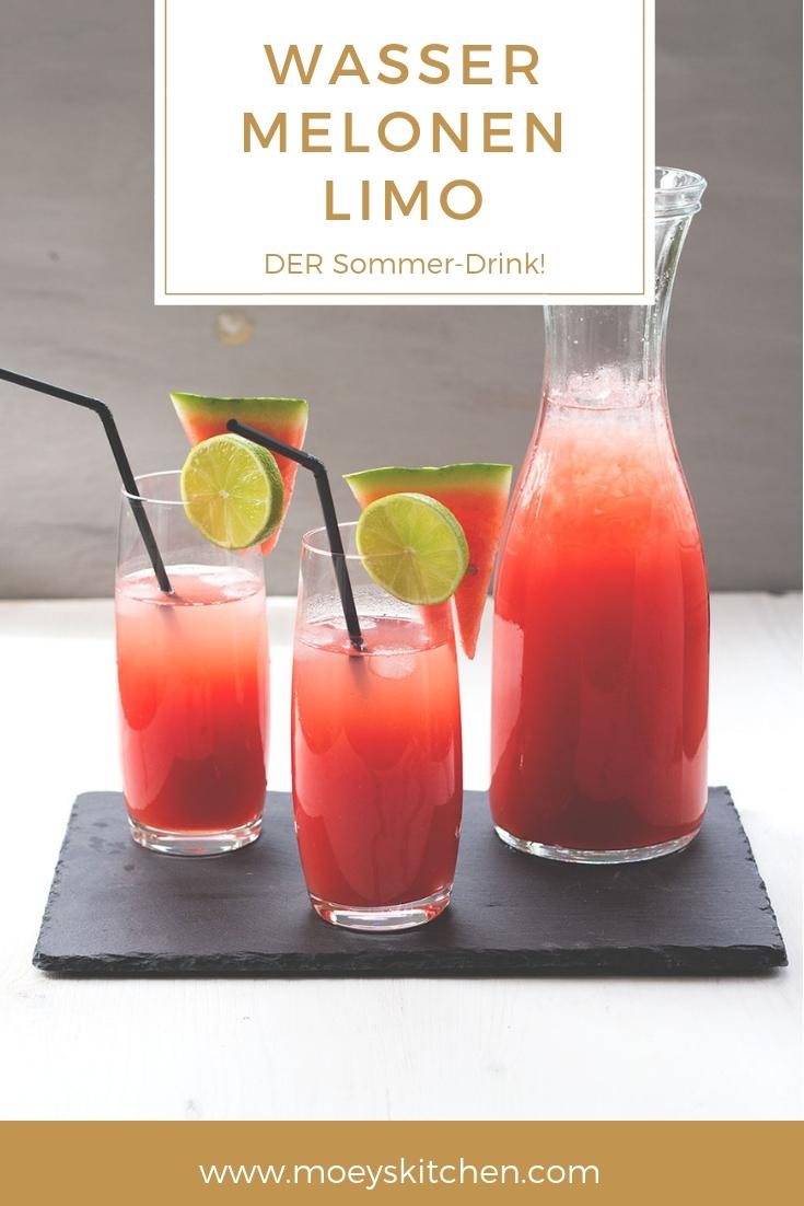 Rezept für Wassermelonen-Limo | selbst gemachte Limonade ist DER Sommer-Drink | moeyskitchen.com #limonade #lemonade #wassermelone #watermelon #rezept #getränk #drink #sommer