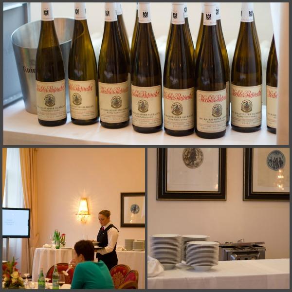 Tim Raue, Kaisergranat, Wasabi, Mango und 2011 Riesling - Kallstadter Saumagen vom Weingut Koehler-Ruprecht, Pfalz, Deutschland