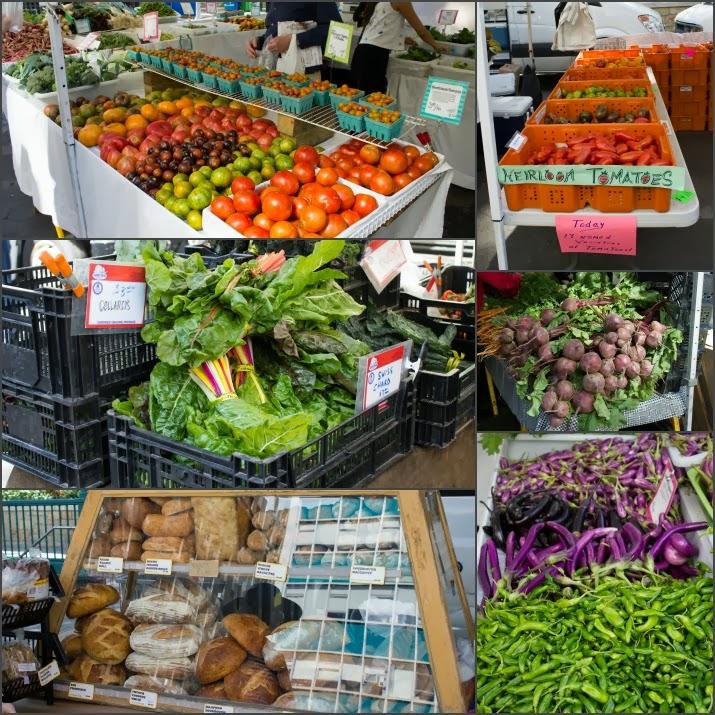 Union Square, Farmers Market, Markt, Heirloom Tomatoes, Swiss Chard, Beets, Brot, Gemüse, Obst, Manhattan, New York, USA
