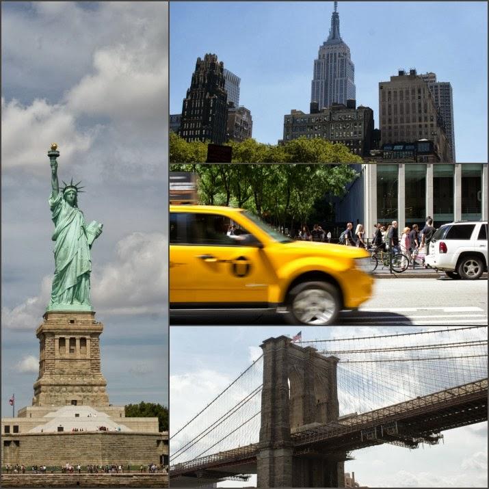 New York, Freiheitsstatue, Brooklyn Brdige, Yellow Cab, Skyline, Manhattan