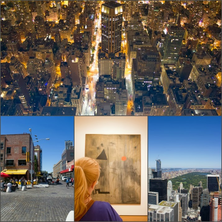 Empire State Building, Topf of the Rock, MoMa, Meatpacking District, Manhattan, Central Park, New York, USA