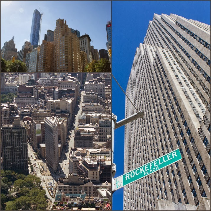 Manhattan, Empire State Building, Rockefeller Plaza, Top of the Rock, Flatiron Building