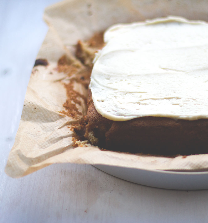Ahornsirup-Kuchen mit Ahornsirup-Icing nach Martha Stewart von moeyskitchen.com