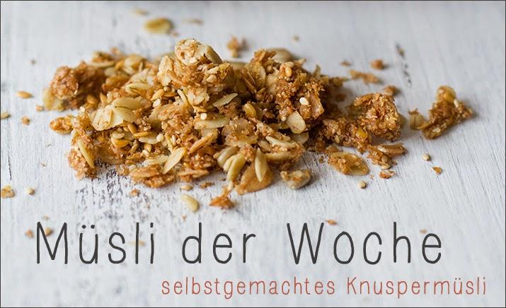 Banner der Wochenserie: Das Müsli der Woche - Rezept für selbstgemachtes Granola