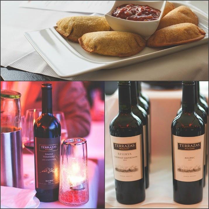 Winetasting Terrazas de Los Andes: Empanadas, Single Vineyard Malbec und Reserva Cabernet Sauvignon