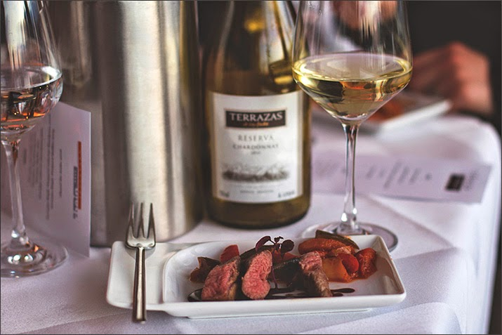 Winetasting Terrazas de Los Andes: Lammfilet mit Schmorgemüse und Reserva Chardonnay 2012