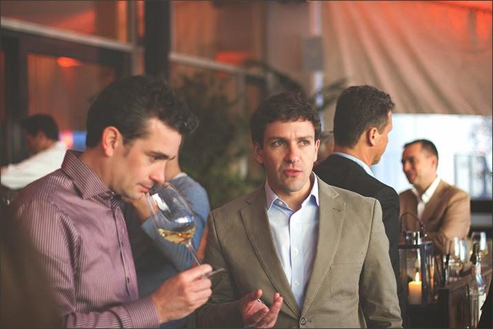 Winetasting Terrazos de los Andes: Blogger Jochen von Viva Culinaria und Kellermeister Gonzalo Carrasco