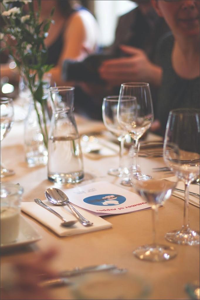 Der gedeckte Tisch wartet auf den Supper Club im Marieneck