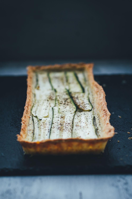 Köstliche Sommerküche nach Feierabend: Vegetarische Zucchini-Tarte mit Ziegenfrischkäse und Parmesan-Knusperboden aus Mürbeteig | moeyskitchen.com #tarte #zucchini #vegetarisch #feierabendrezept #feierabendküche #rezepte #foodblogger