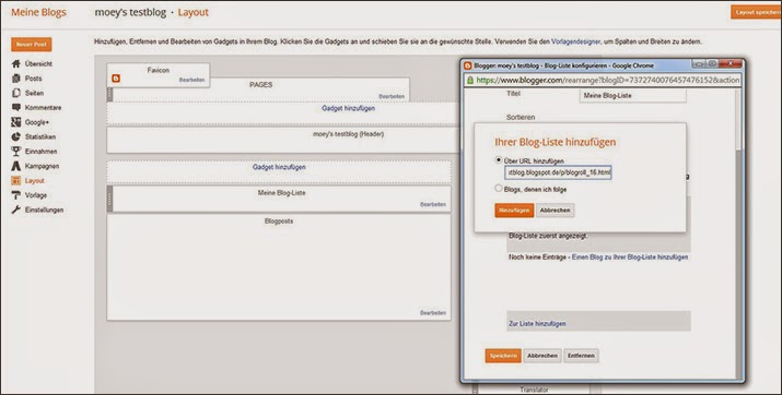 Tutorial: Externe Blogroll bei Blogspot anlegen | Blogroll auf einer externen Seite anlegen