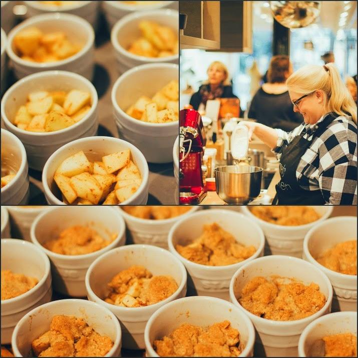 Bratapfel-Crumble in Staub-Förmchen von Maja von moey's kitchen im Zwilling Flagship Store in Düsseldorf