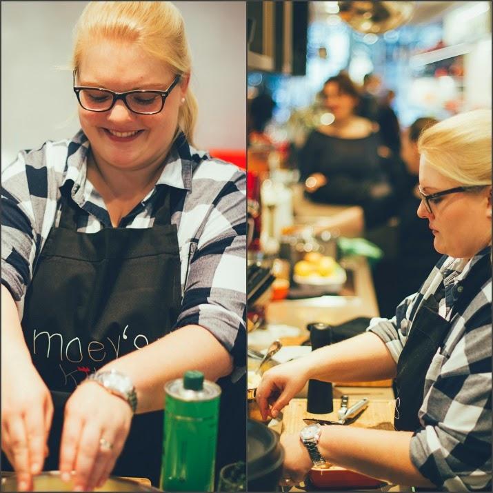 Maja von moey's kitchen kocht im Zwilling Flagship Store in Düsseldorf
