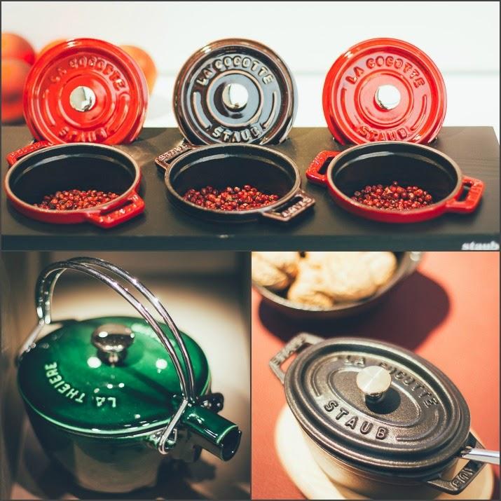 Wunderschöne Staub Produkte aus Keramik und Gusseisen: Mini-Cocottes und Teekanne La Theiere