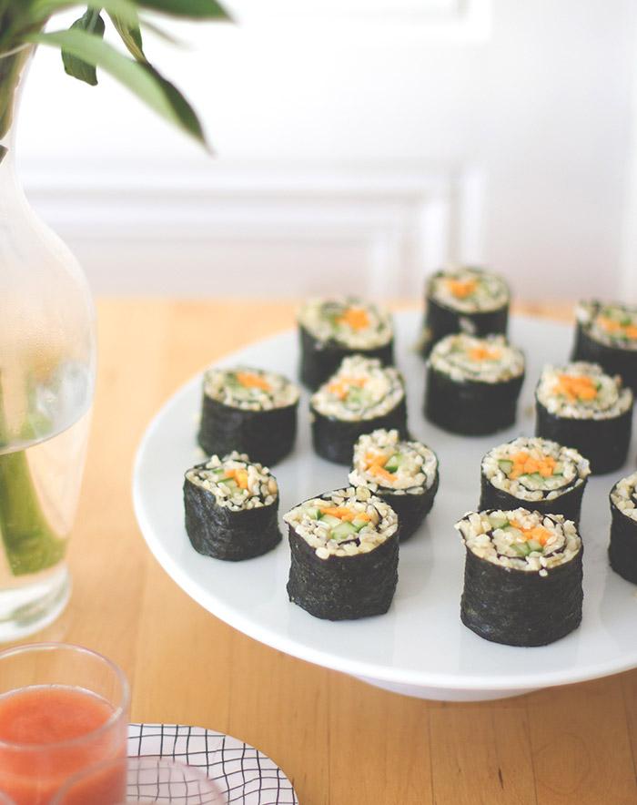 Bulgur-Sushi mit Möhren und Gurken zur Metro Kochherausforderung