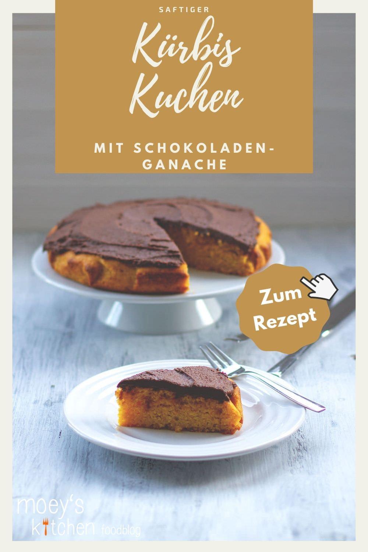 Rezept für saftigen Kürbiskuchen mit cremiger Schokoladen-Ganache | Butternut-Kuchen mit rohem Kürbis und Schoko – der perfekte Kuchen für den Herbst | moeyskitchen.com #kürbiskuchen #kürbis #butternut #kuchen #rezept #herbst #foodblog #kuchenbacken #herbstrezept #kürbisrezepte #schokoladenganache #schokolade