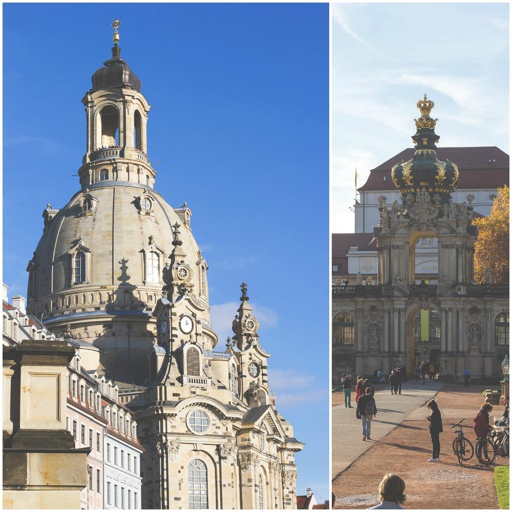 Touriprogramm: Die Dresdner Frauenkirche und der Park vom Dresdner Zwinger