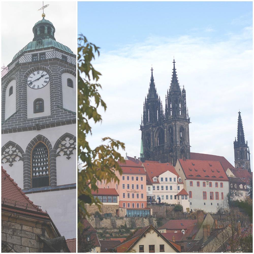 Die Meißener Frauenkirche und der Meißener Dom