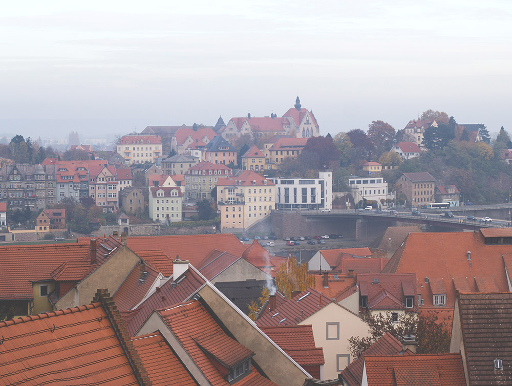 Blick auf Meißen, von der Burg aus