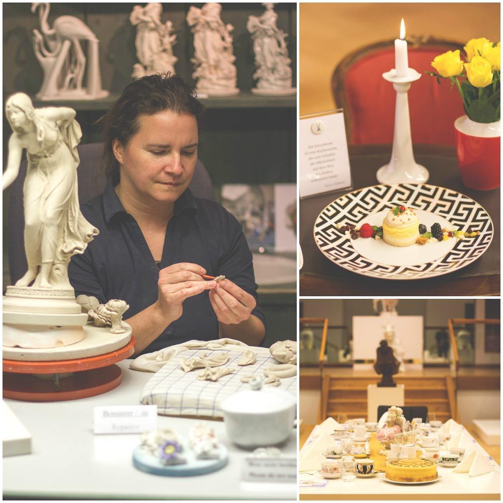 In der Meissener Porzellanmanufaktur und den Schauwerkstätten