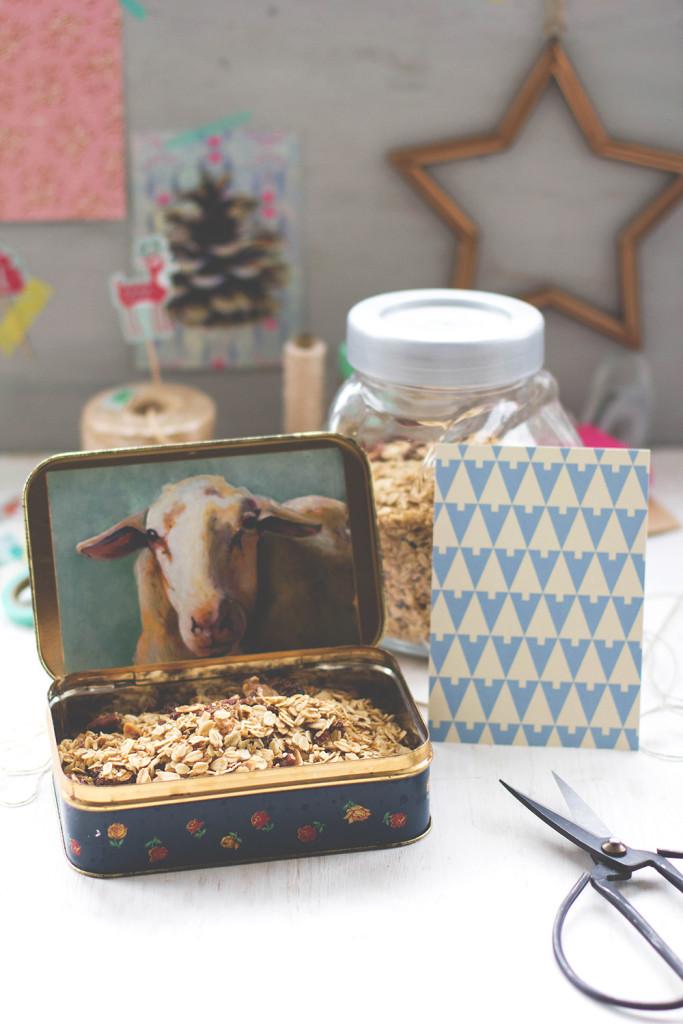 Weihnachten 2015: Rezept für Geschenk aus der Küche - Weihnachtsmüsli aka X-mas Granola und Verpackungstipps