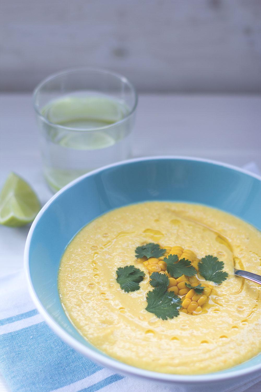 Mais-Paprika-Gazpacho als kalte Suppe aus dem Thermomix