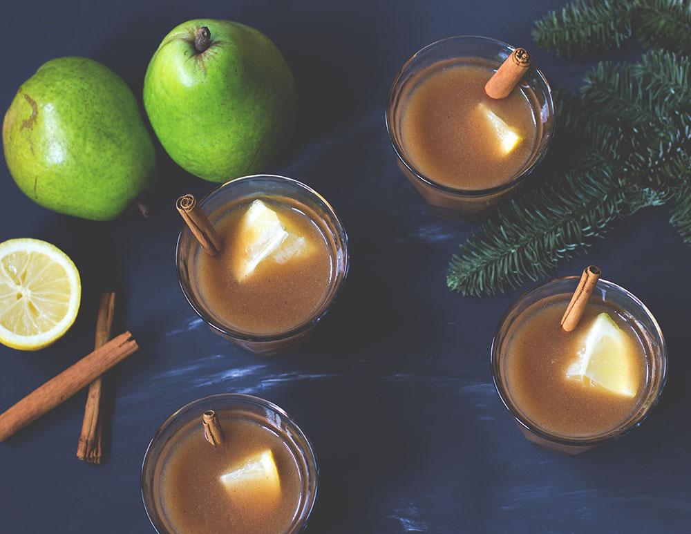 Rezept für leckeren alkoholfreien Birnen-Punsch als Weihnachts-Quickie von moeyskitchen.com
