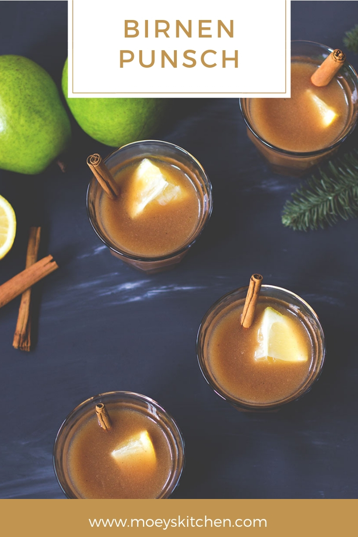 Rezept für schnellen und leckeren alkoholfreien Birnen-Punsch | perfekt für Winter und Weihnachten | moeyskitchen.com #punsch #birnen #rezept #getränk #drinks #weihnachten #winter #rezepte #foodblog