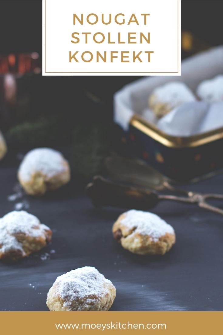 Rezept für saftiges Nougat-Stollen-Konfekt | moeyskitchen.com #nougatstollenkonfekt #nougat #stollen #stollenkonfekt #weihnachtsplätzchen #weihnachten #christmas #xmas #rezepte #foodblog