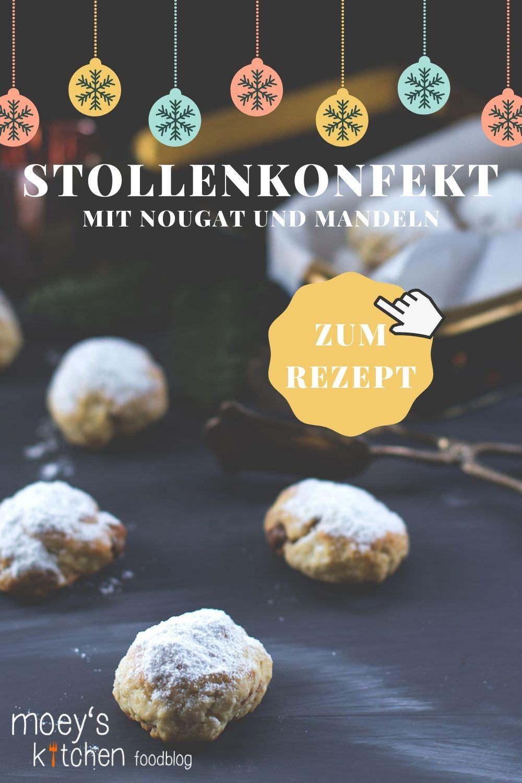 Rezept für blitzschnelles Nougat-Stollenkonfekt mit gehackten Mandeln zu Weihnachten | moeyskitchen.com #stollen #stollenkonfekt #nougat #nougatstollen #weihnachtsplätzchen #weihnachtskekse #plätzchenbacken #weihnachtsbäckerei #advent #weihnachten #foodblog #foodblogger #rezept #rezepte