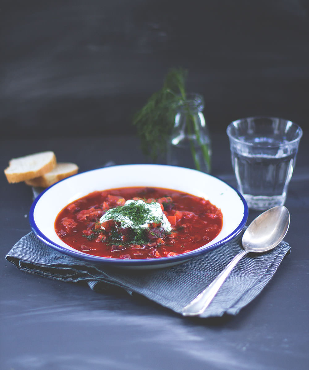 Rezept für vegetarischen Borschtsch (Borscht) aus dem Thermomix zum #tmdonnerstag von moeyskitchen.com