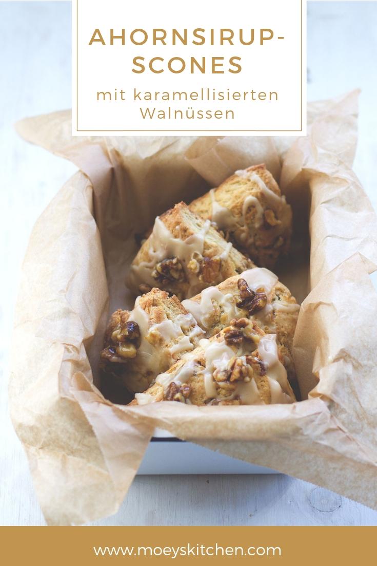 Rezept für Ahornsirup-Scones mit karamellisierten Walnüssen | Das perfekte Sonntagsfrühstück | moeyskitchen.com