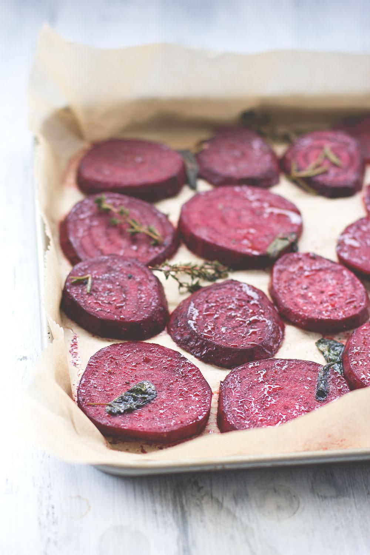 Rezept für schnelle Rote Bete Tarte mit Blätterteig von moeyskitchen.com