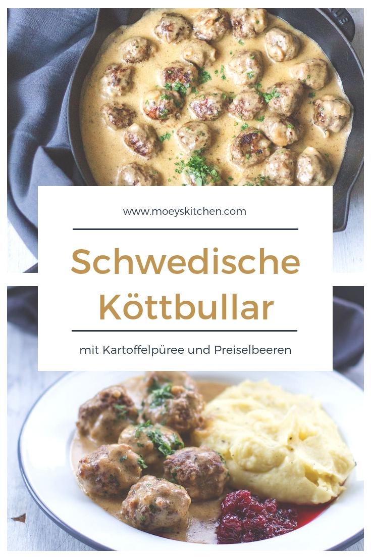 Rezept für leckere schwedische Köttbullar (Hackbällchen) | moeyskitchen.com #köttbullar #rezept #meatballs #hackbällchen