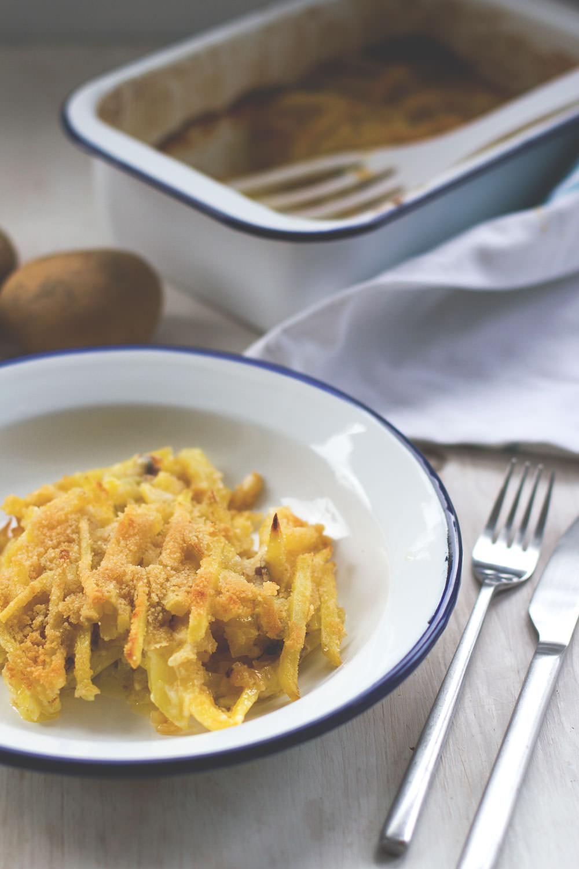 Rezept für den schwedischen Kartoffelauflauf Janssons frestelse (Janssons Versuchung) für die Blogparade Die Kartoffel weltweit