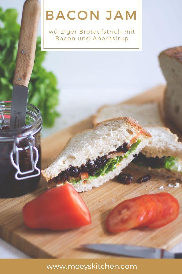 Rezept für selbst gemachten BACON JAM | würziger Brotaufstrich aus Bacon und Ahornsirup | moeyskitchen.com #baconjam #bacon #aufstrich #brotaufstrich #blt #sandwich #bltsandwich #homemade #selbstgemacht #foodblogger #rezepte