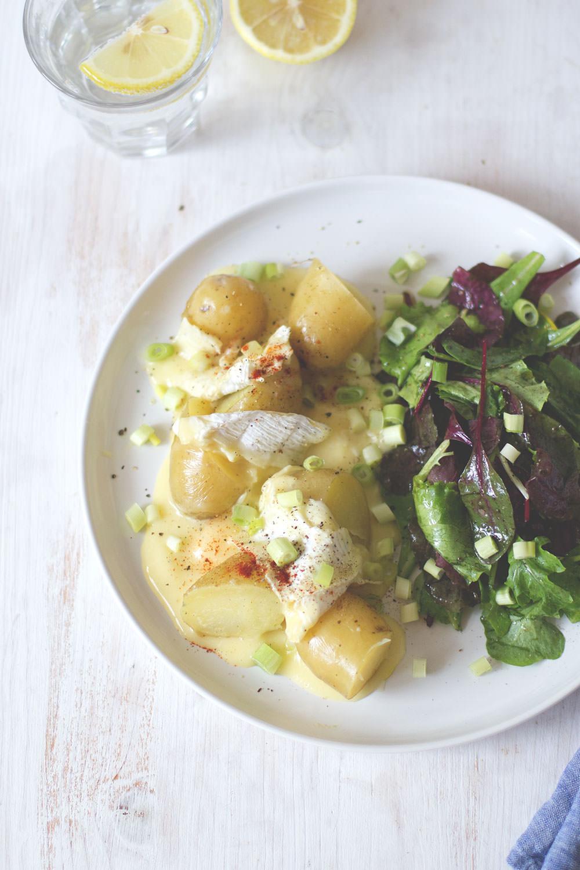 Rezept für neue Kartoffeln mit gebackenem Camembert | moeyskitchen.com