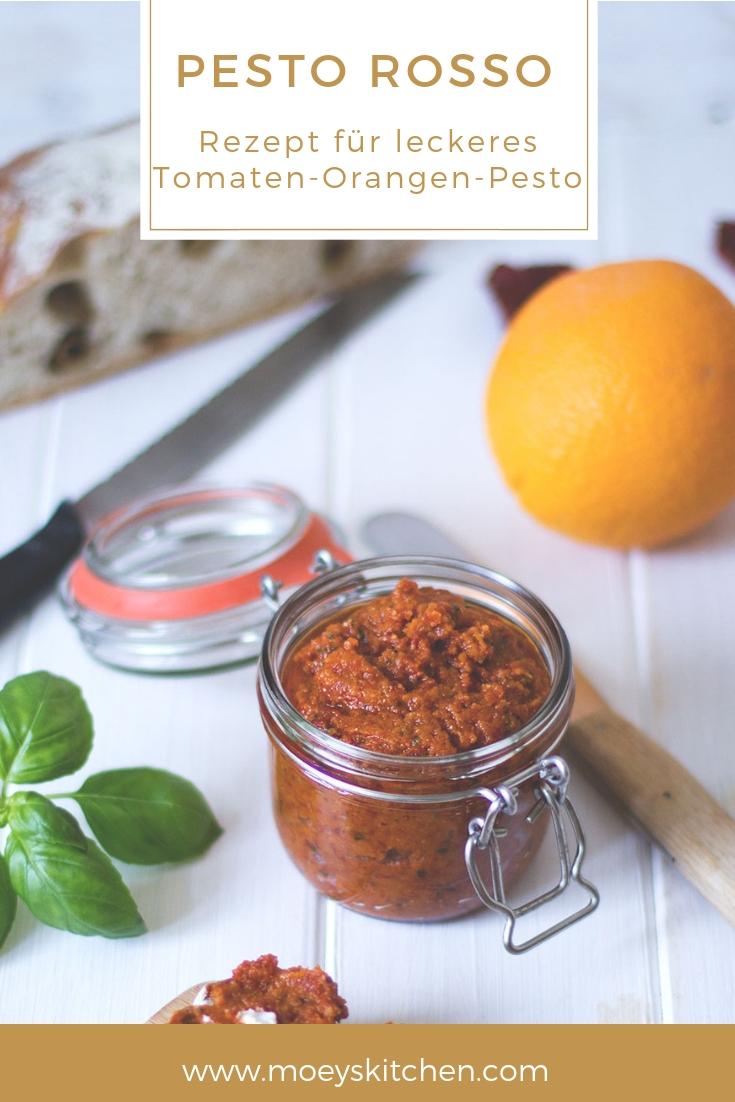 Rezept für würziges Tomaten-Orangen-Pesto | Tomaten-Pesto / Pesto rosso | moeyskitchen.com #pesto #pestorosso #tomatenpesto #rezept #foodblog